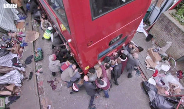 The bust crash causes chaos on EastEnders
