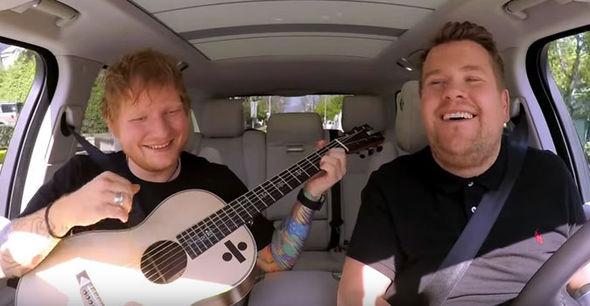 Sheeran and Corden