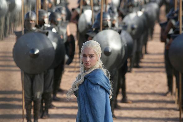 Emilia Clarke as Daenerys with army