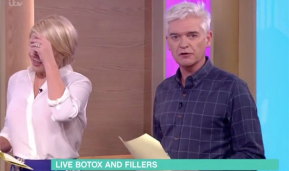 Holly Willoughby jokes about fainting on This Morning over a botox segment