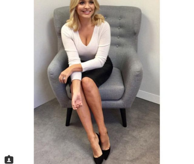 Holly Was Channelling A Sexy Secretary Look