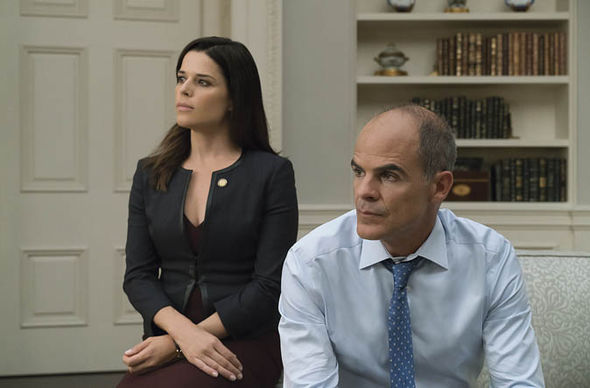 House of Cards: Neve Campbell as Leann Harvey and Michael Kelly as Doug Stamper
