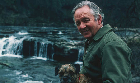 James Herriot with a dog