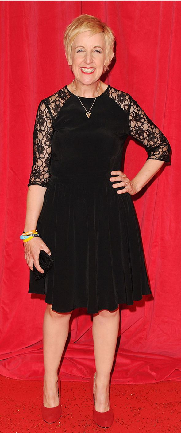 Julie Hesmondhalgh at a red carpet event