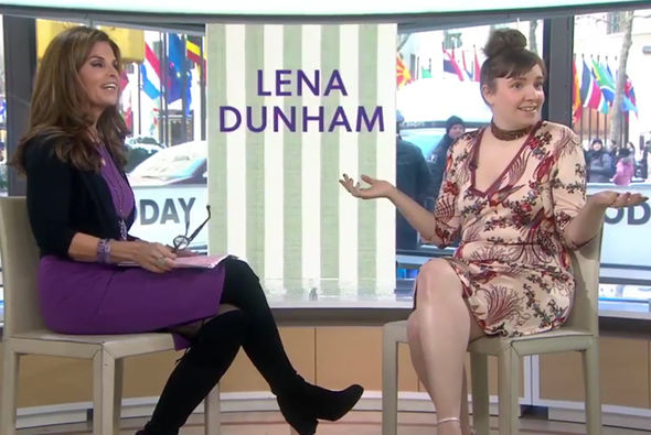 Lena Dunham Maria Shriver Today show penis Girls season 6