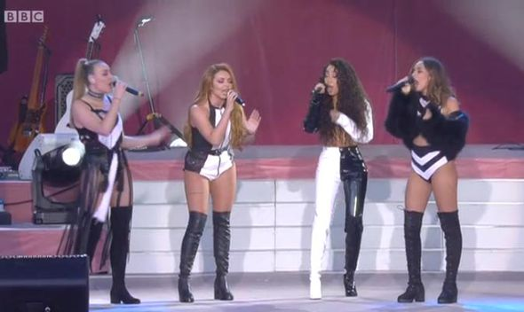 Little Mix singing