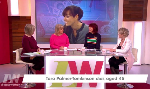 The Loose Women pay tribute to Tara Palmer-Tomkinson