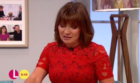 Lorraine Kelly fought back tears on her show today