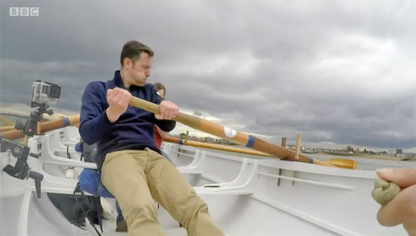 Matt Baker takes to the water on Countryfile