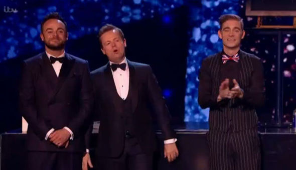 Matt Edwards with Ant and Dec