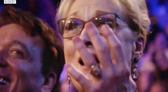 Meryl Streep looked close to tears