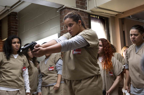 Orange is the New Black: Daya holding gun