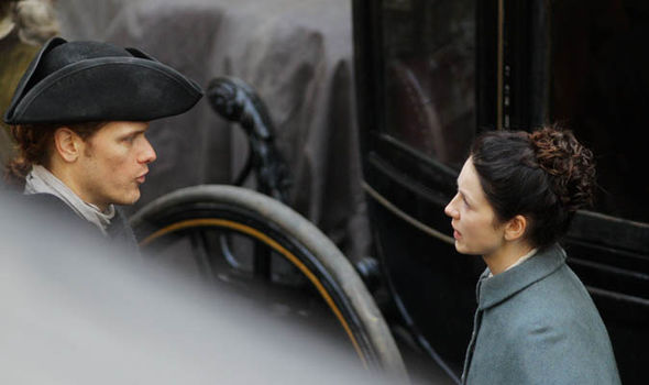 Outlander stars shoot scenes for season 3