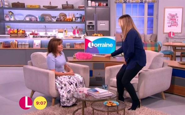 Patsy Kensit cleans Lorraine Kelly