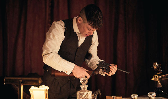 Cillian Murphy as Tommy Shelby in BBC drama Peaky Blinders