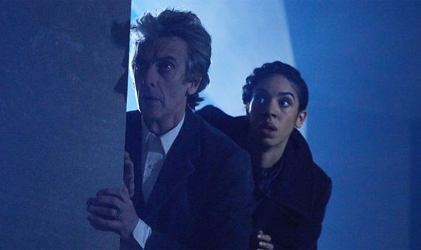 Peter Capaldi as Doctor Who alongside Pearl Mackie as Bill