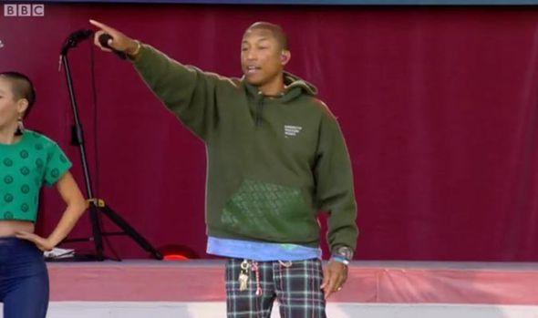 Pharrell singing