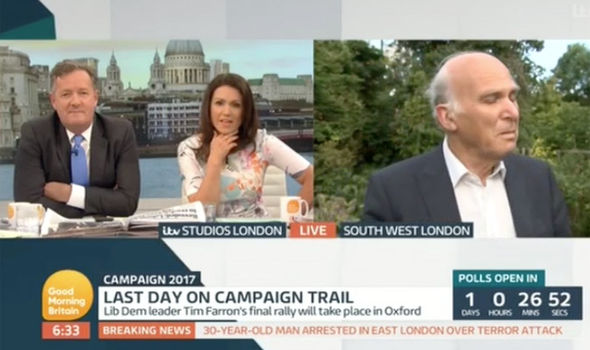 Piers Morgan grilled Vince Cable on Good Morning Britain
