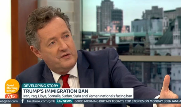 Piers Morgan expressed his disagreement of the ban by Donald Trump