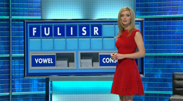 Rachel Riley Countdown outfit dress racy sexy