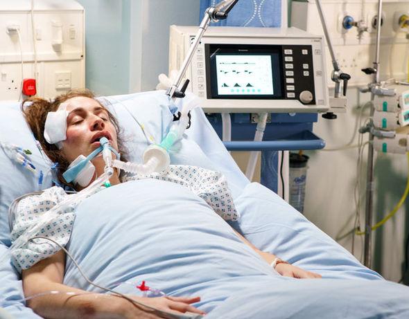 Shona Ramsey in hospital