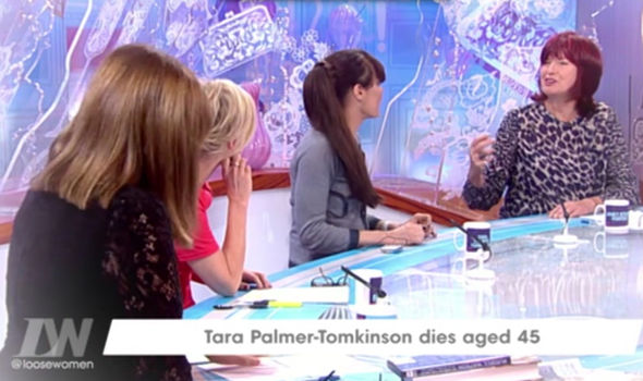 Tara Palmer-Tomkinson previously on Loose Women