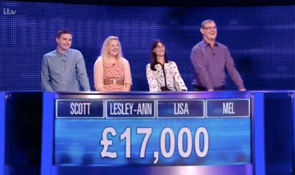 The team on The Chase walked away with £17,000