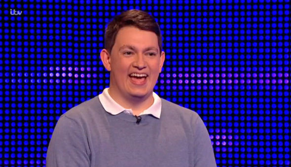 The Chase Callum mocked Anne Hegerty
