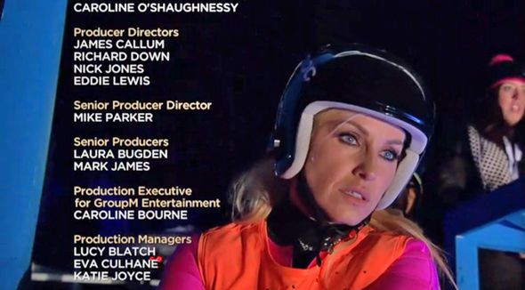 The Jump 2017 Josie Gibson looked glum as the credits rolled