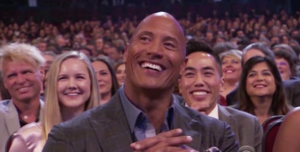 The Rock laughed at Kevin Hart's joke