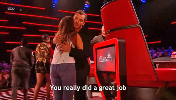 The Voice UK 2017 Gavin Rossdale hugs Ciara Harvie