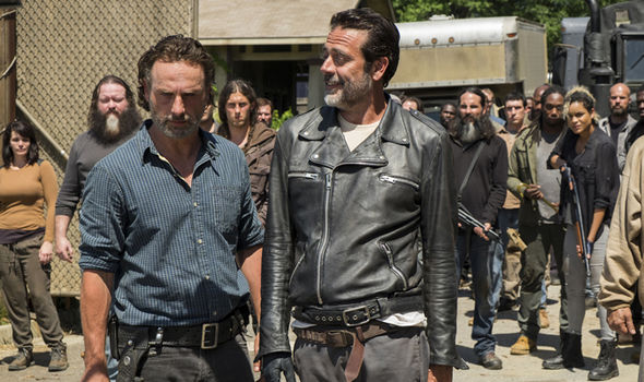 Rick Grimes is confronted by Negan in The Walking Dead