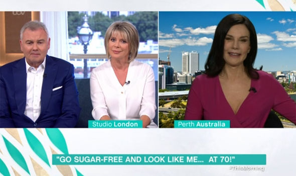 Ruth Langsford's top went sheer on This Morning today