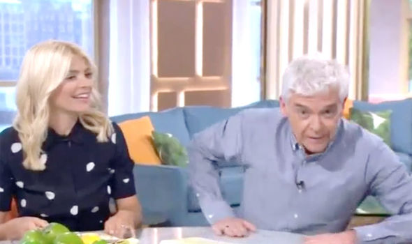 Holly Willoughby and Phillip Schofield revealed the leak in the studio