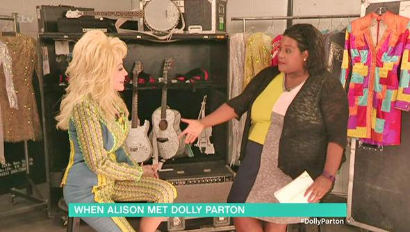 This Morning Alison Hammond interviews Dolly Parton