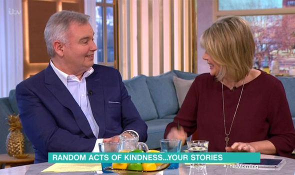 Eamonn Holmes makes a joke about Ruth Langsford and street corners