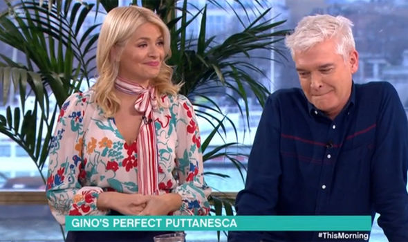 Gino D'Acampo makes Holly Willoughby blush on This Morning