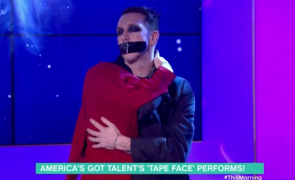This Morning guest TapeFace