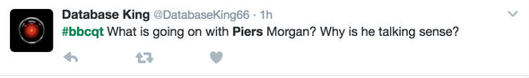 Tweet for Piers Morgan Question Time