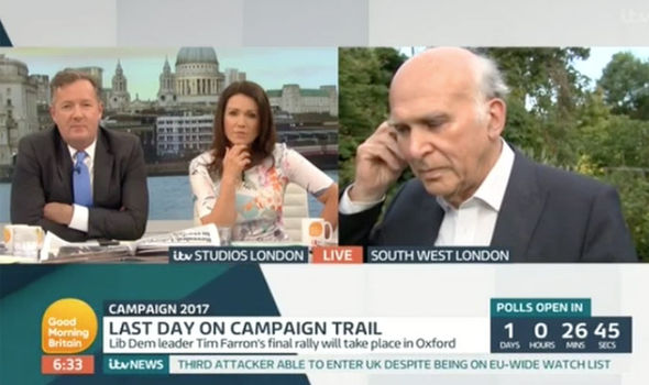 Vince Cable made a candid confession on Good Morning Britain