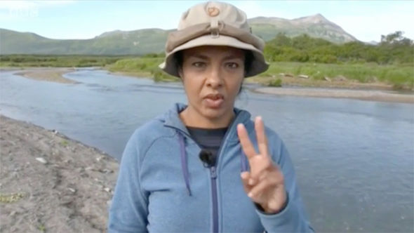 Wild Alaska Live Liz Bonnin suffers on air BLUNDER as camera catches her off guard