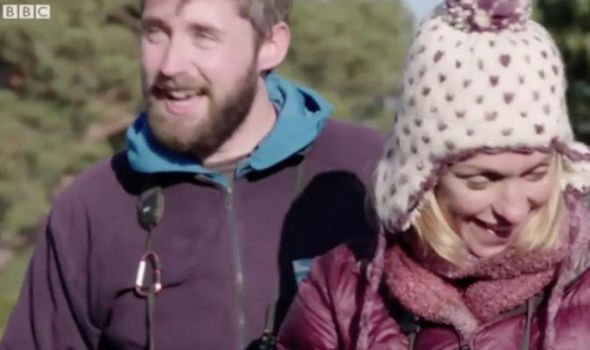 Michaela Strachan fails to charm a spider on Winterwatch