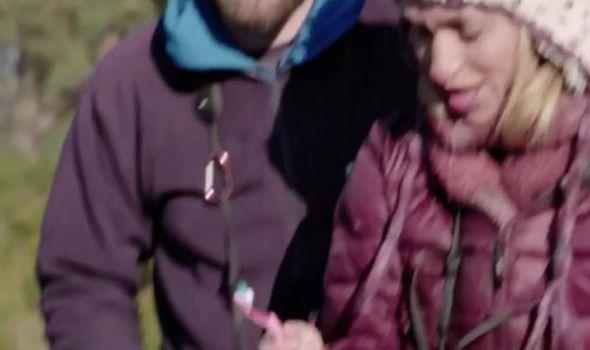 Michaela Strachan is in hysterics on Winterwatch
