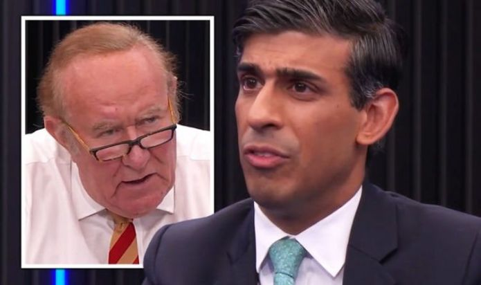 'So the answer's yes!' Rishi Sunak squirms as Andrew Neil says pensions could rise 8%