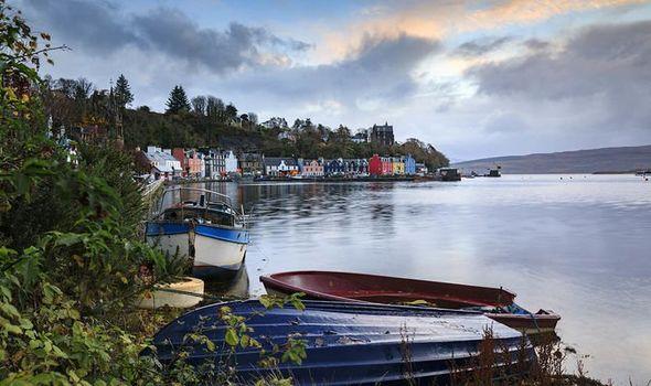 Boats at sunrise at Tobermory