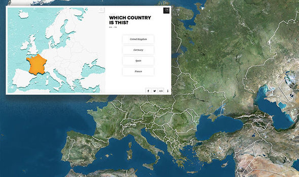 Europe quiz geography test baffles Brits     can YOU find Romania on a     Europe map quiz geography test