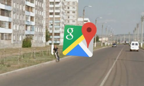 Google Maps Street View  Funny pictures reveal man falling off his     Google Maps Street View bike fall Russia