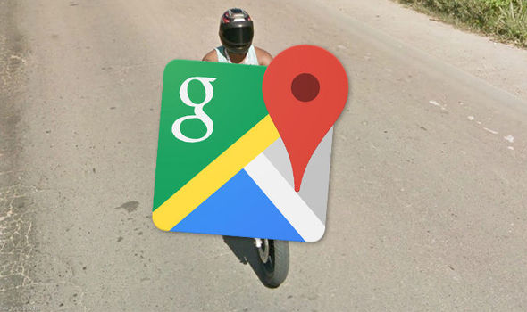 Google Maps Street View  Motorbike rider in Brazil caught with this     Google Maps Street View motorbike rider flip flops