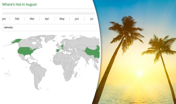 Mapped The Hottest Countries In The World All Year Round Travel News Travel Express Co Uk