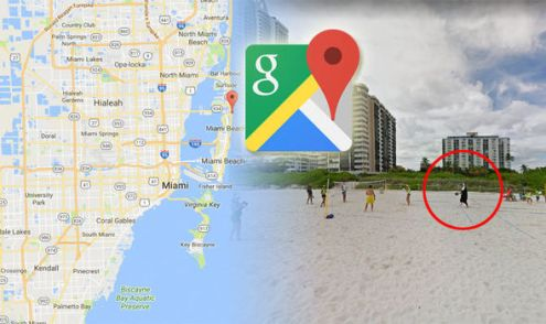 Google Maps Street View car spots nun on Miami Beach   Travel News     google maps street view miami beach